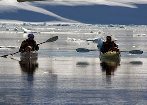 Kayaking in polar waters