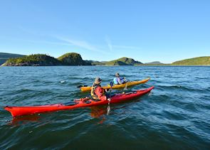Kayaking in Le Bic National Park