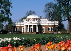 Thomas Jefferson's Monticello, near Charlottesville, Virginia