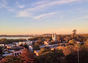 Colonia del Sacramento at sunset