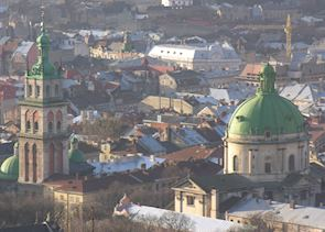View from High Castle over Lvov's historic centre