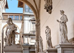 Statues in the Loggia Dei Lanzi, Florence