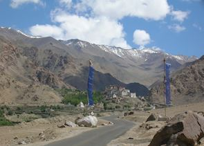 Approach to Lekir Monastery, Ladakh