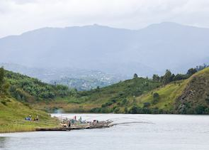 Fishermen along the shores of Lake Kivu