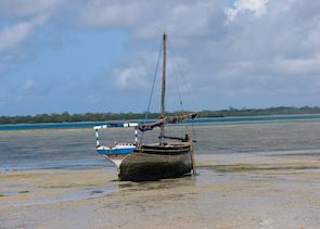Dhow on Chole Island, Mafia Archipelago