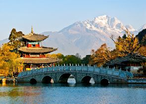 Jade Dragon Mountain from the Black Dragon Pool Lijiang