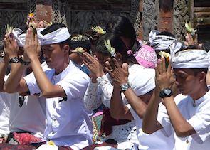 Blessing at Tirtha Empul, Ubud