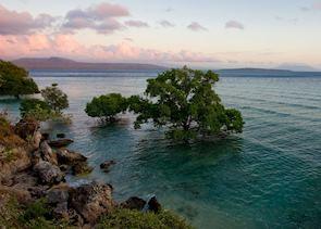 Menjangan Island and Java's east coast in the distance, Indonesia