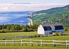 Overlooking Saint Irenee, near Baie St Paul