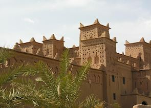 Large kasbah in Skoura's palm grove