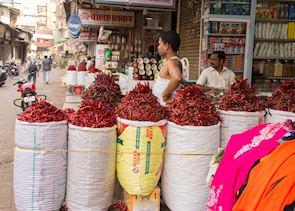 Spice stalls, Mumbai (Bombay)
