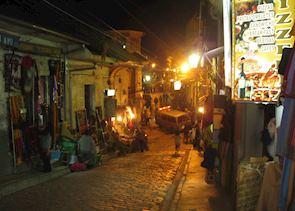 Witches Market by night, La Paz