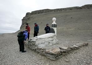 One of the Franklin expedition graves, Beechey Island