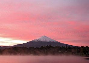 View of Osorno Volcano, near Puerto Varas, Chile