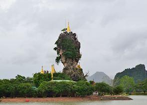 Afternoon visit to Kyauk Ka Lat Pagoda, Hpa An