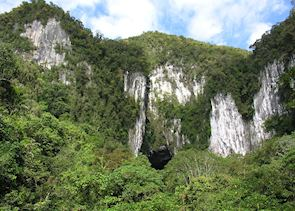 View of the entrance to Deer Cave, Mulu National Park