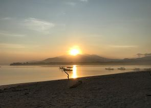 Sunrise over Gunung Rinjani