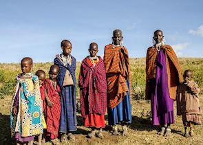 Maasai family in Tanzania