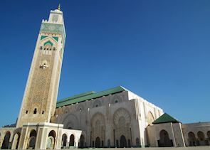 The Hassan II mosque, Casablanca, Morocco