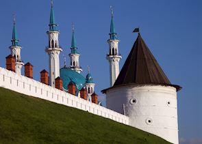 Kazan's kremlin with Kul Sharif mosque within it's walls