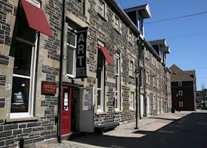 Heritage buildings on the the old town waterfront, Halifax