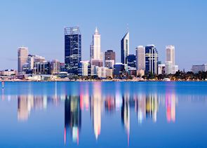 Perth city skyline at night, Perth