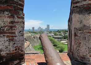 View from Castillo de San Felipe de Barajas, Cartagena