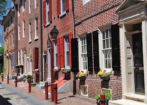 Elfreth's Alley in downtown Philadelphia