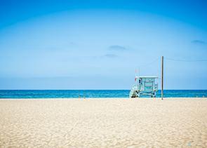 Lifeguard tower at Venice beach, Los Angeles