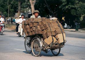 Loaded cyclo, Hanoi