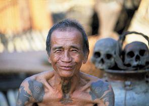 Iban elder, Sarawak, Malaysian Borneo