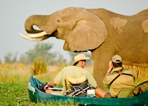 Canoeing in Mana Pools
