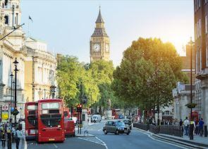 Big Ben and Whitehall, London