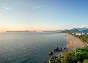 Earl morning at Lang Co Beach, Central Vietnam