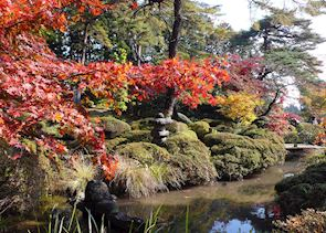 Temple garden in Autumn, Nikko