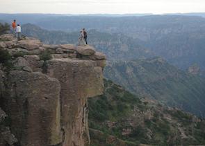 La Piedra Volada in the Cañon Candameña near Barrancas/Divisadero, Mexico