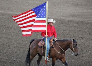Cowboy at the Cody Nite Rodeo