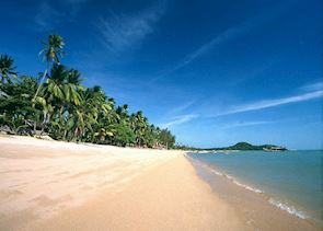 Bophut beach on the north of Koh Samui, Thailand