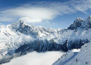 Alpine peaks, Chamonix
