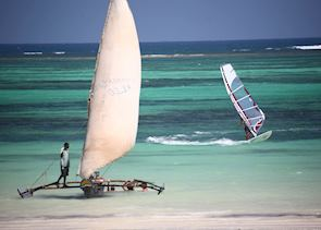 Watersports on Diani Beach