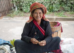 Pa O elder at the Aung Ban market, near Inle Lake, Burma (Myanmar)