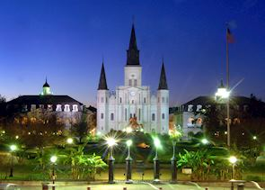 St. Louis' Cathedral and Jackson Square, New Orleans