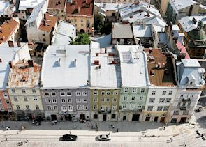 View from Rathaus, Lvov, Ukraine