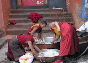 Monks at Tashilunpo Monastery