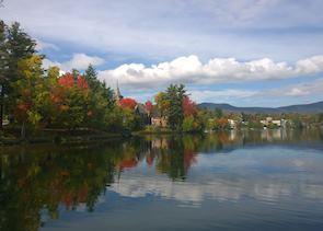Fall colours at Lake Placid