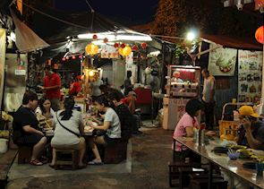 Local street food alley in Malacca