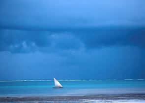 Dhow off Diani Beach