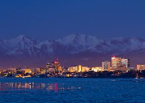 Night Skyline, Anchorage, Alaska