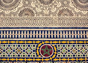 Traditional Moroccan tile-work