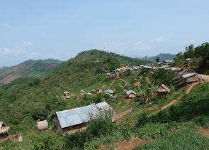 Local minority hill tribe village, Muang La, Laos